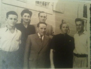 משפחת פרידמן ויוסף באהר 1946